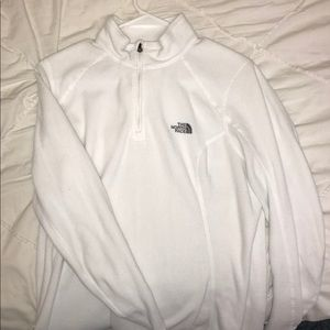 White North Face quarter zip
